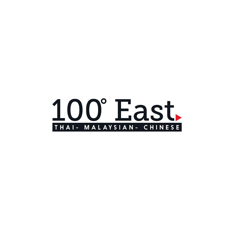 100 Degrees East Logo