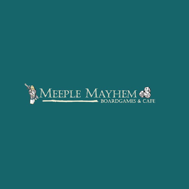 Meeple Mayhem  Logo